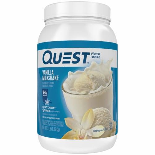 Quest Vanilla Milkshake Protein Powder Perspective: front