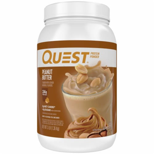 Quest Peanut Butter Protein Powder Perspective: front