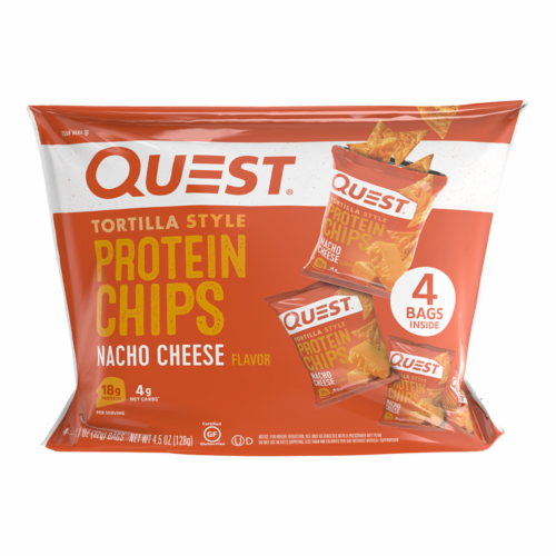 Quest Nacho Cheese Tortilla Style Protein Chips Perspective: front