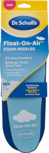 Dr. Scholl's Float on Air Men's Foam Insoles Perspective: front