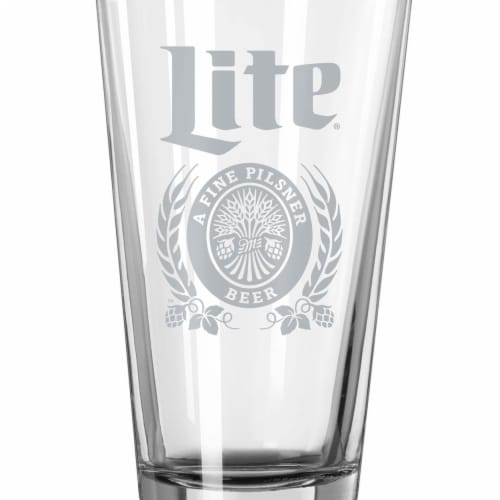 Miller Lite Pint Glass Perspective: front