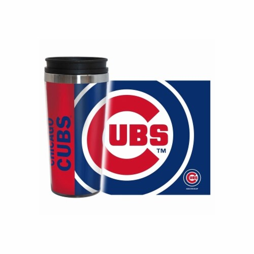 Chicago Cubs Travel Mug 14oz Full Wrap Style Hype Design Perspective: front