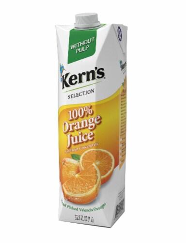 Kern's 100% Orange Juice Perspective: front