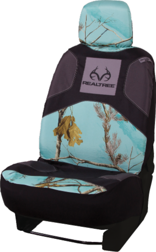 Realtree Car Seat Cover - Mint Camo Perspective: front