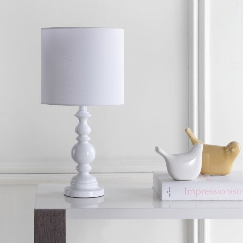 Harrington Table Lamp White Perspective: front