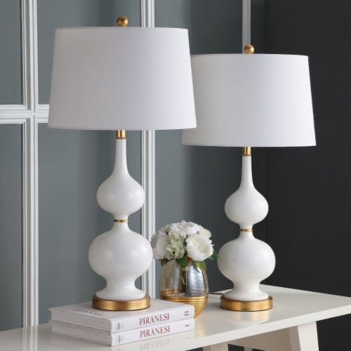 Myla Table Lamp White / Gold Leaf Perspective: front