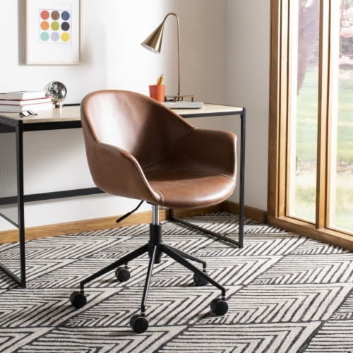 Ember Office Chair Cognac Perspective: front