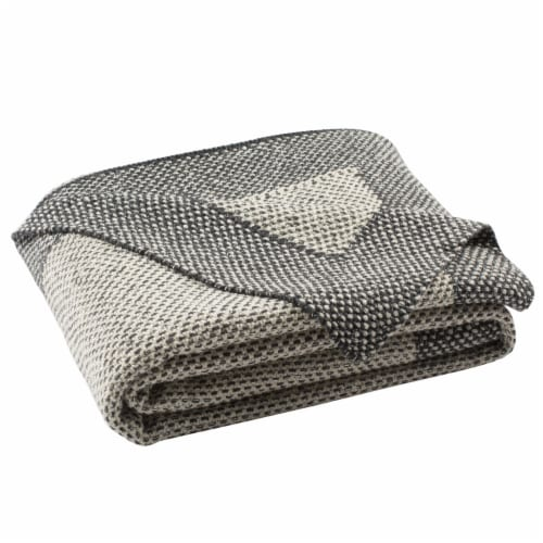 Dania Knit Throw Grey Perspective: front