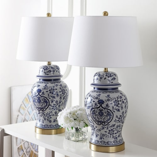 Ariadne Table Lamp Blue / White Perspective: front