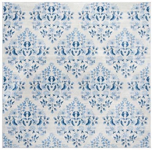 Safavieh Martha Stewart Brentwood Square Rug - Cream/Blue Perspective: front