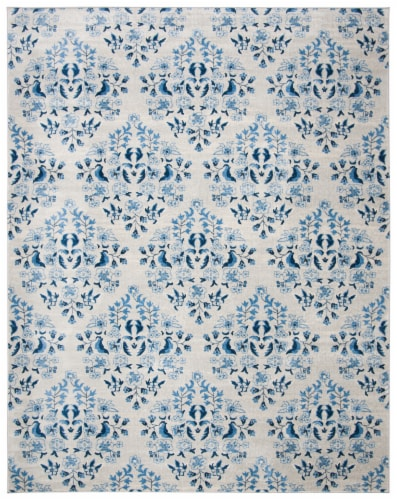 Martha Stewart Brentwood Rug - Cream/Blue Perspective: front