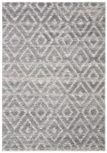Safavieh Martha Stewart Collection Lucia Shag Area Rug - Light Gray/Dark Gray Perspective: front