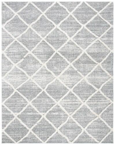 Safavieh Martha Stewart Lucia Shag Area Rug - Light Gray/White Perspective: front