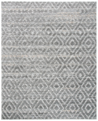 Martha Stewart Collection Lucia Shag Area Rug - Light Gray/Dark Gray Perspective: front