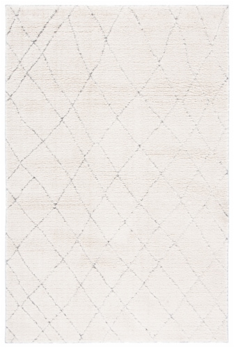 Martha Stewart Collection Lucia Shag Accent Rug - Light Gray/White Perspective: front