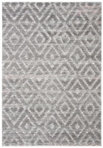Safavieh Martha Stewart Lucia Shag Accent Rug - Light Gray/Dark Gray Perspective: front