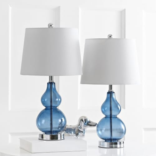Brisor Table Lamps Blue / Chrome Perspective: front