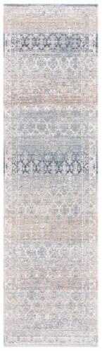 Martha Stewart Maze Cosmopolitan Floor Runner Rug - Cream/Gray Perspective: front