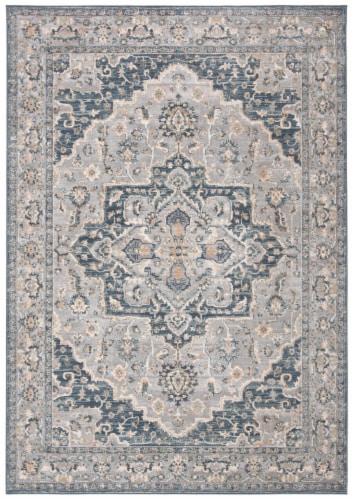 Safavieh Martha Stewart Peak Cosmopolitan Area Rug - Cream/Blue Perspective: front