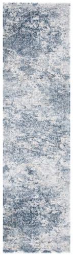 Martha Stewart Cosmopolitan Floor Runner Rug - Cream/Blue Perspective: front