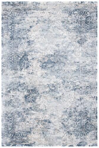 Martha Stewart Cosmopolitan Accent Rug - Cream/Blue Perspective: front