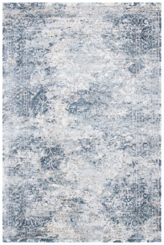 Martha Stewart Cosmopolitan Area Rug - Cream/Blue Perspective: front