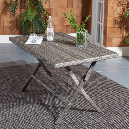Akita Folding Table Grey Perspective: front