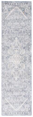 Martha Stewart Grove Cosmopolitan Rug - Cream / Blue Perspective: front