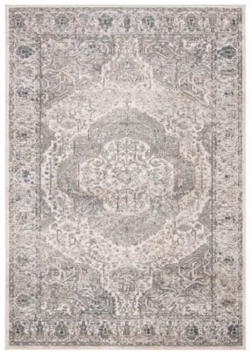 Safavieh Martha Stewart Rancher Oregon Accent Rug - Ivory/Gray Perspective: front