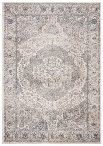 Martha Stewart Rancher Oregon Area Rug - Ivory/Gray Perspective: front