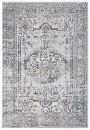 Martha Stewart Dacota Oregon Accent Rug - Light Blue/Ivory Perspective: front