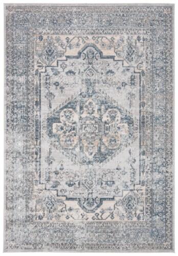 Safavieh Martha Stewart Dacota Oregon Area Rug - Light Blue/Ivory Perspective: front