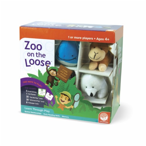MindWare Zoo On the Loose Board Game Perspective: front