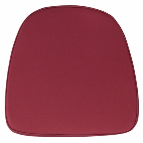 Flash Furniture BH-BURG-GG Soft Burgundy Fabric Chiavari Chair Cushion Perspective: front
