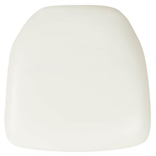 Flash Furniture BH-WH-HARD-VYL-GG Hard White Vinyl Chiavari Chair Cushion Perspective: front