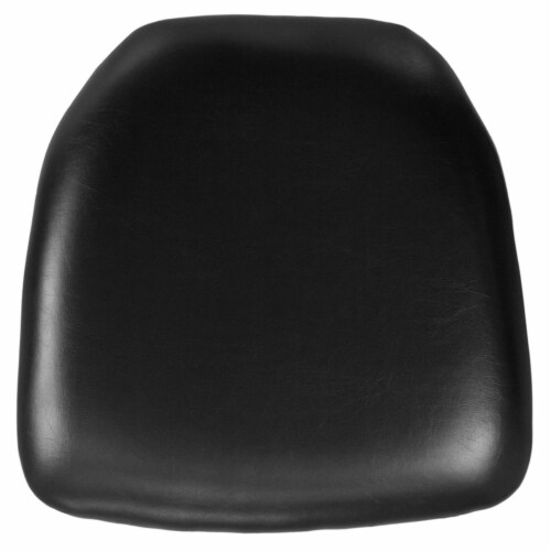 Flash Furniture BH-BK-HARD-VYL-GG Hard Black Vinyl Chiavari Chair Cushion Perspective: front