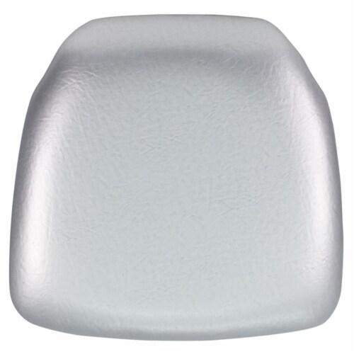 Flash Furniture BH-SIL-HARD-VYL-GG Hard Silver Vinyl Chiavari Chair Cushion Perspective: front