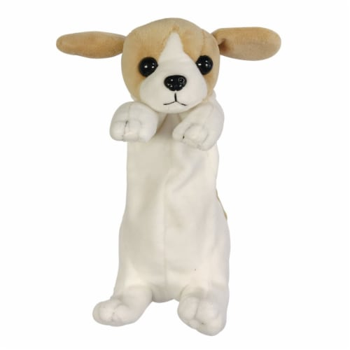 Wrapables Cute Puppy Pouch Plush Pencil Case, Beagle Perspective: front