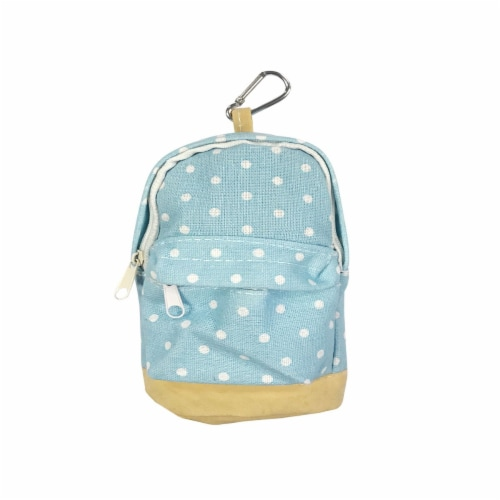 Wrapables Mini Backpack Pencil Case Pouch, Blue Perspective: front