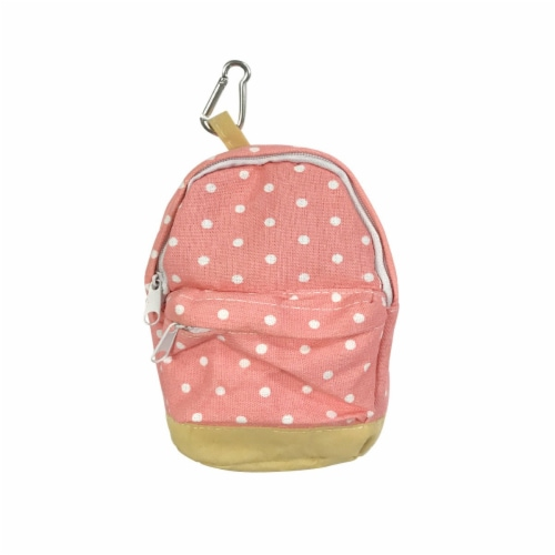 Wrapables Mini Backpack Pencil Case Pouch, Pink Perspective: front