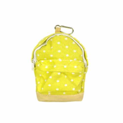 Wrapables Mini Backpack Pencil Case Pouch, Yellow Perspective: front