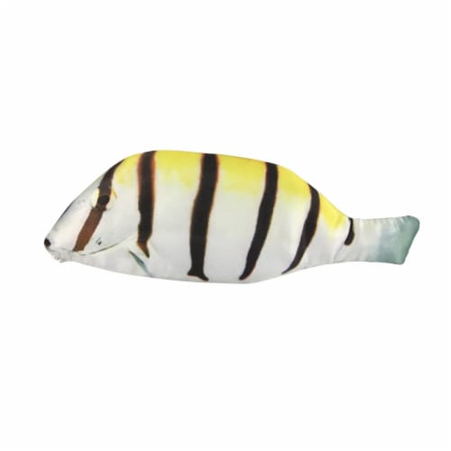 Wrapables Novelty Fish Style Pencil Case, Yellow Perspective: front