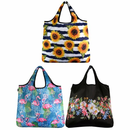 YaYBag Jumbo Reusable Bags (Set of 3), Carefree Perspective: front