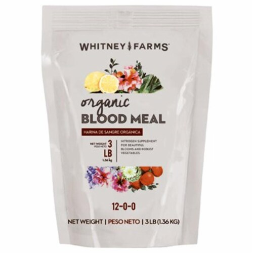 Whitney Farms 3 Lb. 12-0-0 Natural Blood Meal 10101-10017 Perspective: front