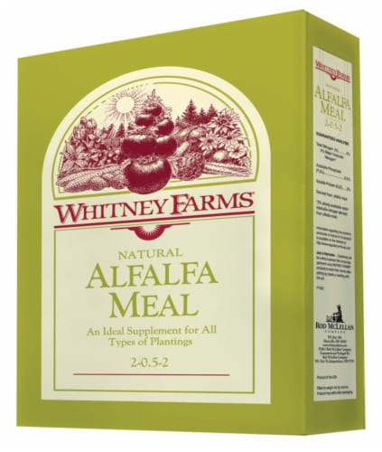 Whitney Farms Alfalfa Meal Granules Organic Plant Food 3 lb. - Case Of: 1; Perspective: front