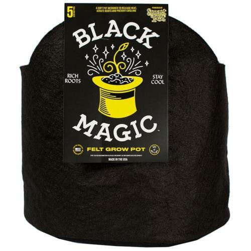 Black Magic Felt Grow Pot Perspective: front