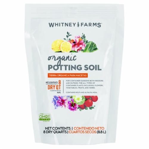 Whitney Farms 8 Qt. 4-1/2 Lb. All Purpose Organic Potting Soil 10101-71601 Perspective: front