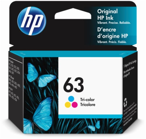 HP 63 Ink Cartridge - Tri-Color Perspective: front
