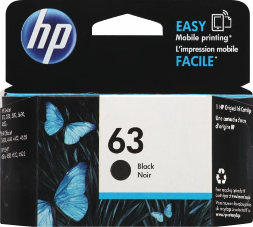 HP 63 Ink Cartridge - Black Perspective: front