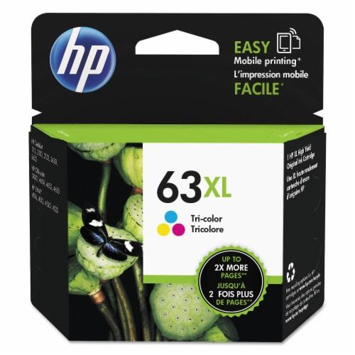 HP 63XL Tri-Color Ink Cartridge Perspective: front